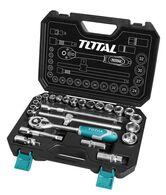 """Набор Total THT121251 ключей, головок торцевых 1/2"""", 25 предм."""