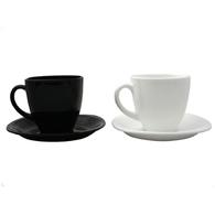 Сервиз чайный Luminarc CARINE Blanc&Noir 220мл 6шт (D2371)