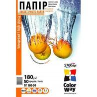 Бумага ColorWay 10x15 ПГ180-50 PG1800504R