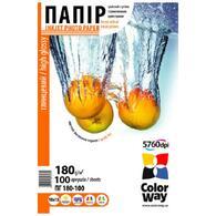 Бумага ColorWay 10x15 (ПГ180-100) (PG1801004R) 180 г/м2, 100 листов, глянец