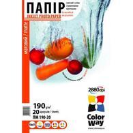 Бумага ColorWay A4 ПМ190-20 PM190020A4
