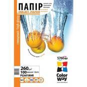 Бумага ColorWay 10x15 (ПГ260-100) (PG2601004R) 260 г/м2, 100 листов, глянец
