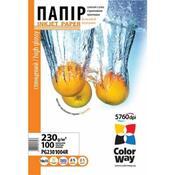 Бумага ColorWay 10x15 (PG2301004R) 230 г/м2, 100 листов, глянец, водостойкая, картонная упаковка