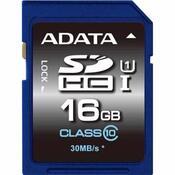 Карта памяти A-DATA 16GB SDHC class 10 UHS-1 ASDH16GUICL10-R