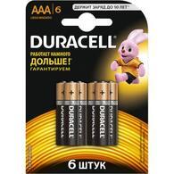 Батарейка Duracell AAA MN2400 LR03 * 6 81485017