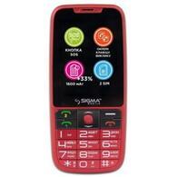 Мобильный телефон Sigma Comfort 50 Elegance 3 1600 mAh Red 4827798233795