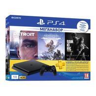 Игровая консоль Sony PlayStation 4 1TB HZD+GTS+GOW+PSPlus 3М CUH-2208B