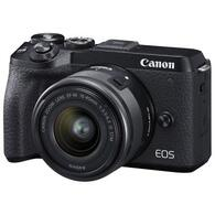 Цифровой фотоаппарат Canon EOS M6 Mark II + 15-45 IS STM + EVF Kit Black 3611C053