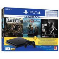 Игровая консоль Sony PlayStation 4 1ТВ в комплекте с 3 играми 9382102