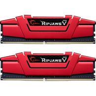 Модуль памяти для компьютера DDR4 32GB 2x16GB 2666 MHz Ripjaws V Red G.Skill F4-2666C19D-32GVR