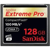 Флеш карта SanDisk 128Gb Compact Flash eXtreme Pro (SDCFXPS-128G-X46) 128 Gb, Compact Flash, 160 Мб/сек, 150 Мб/сек