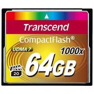 Флеш карта Transcend 64Gb Compact Flash 1000x (TS64GCF1000) 64 Gb, Compact Flash