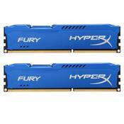 Модуль памяти DDR3 16Gb 2x8GB 1600 MHz HyperX Fury Fury Blu Kingston HX316C10FK2/16